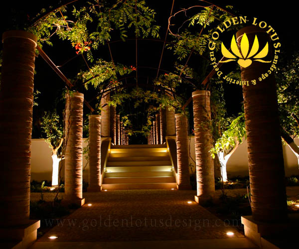 طراحی محوطه باغ ویلا و ساختمان های متفاوت: نورپردازی باغ، ویلا، نور پردازی نمای ساختمان